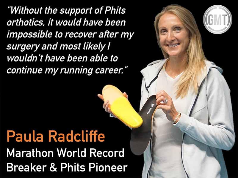 Paula Radcliffe Testimonial for custom orthotics
